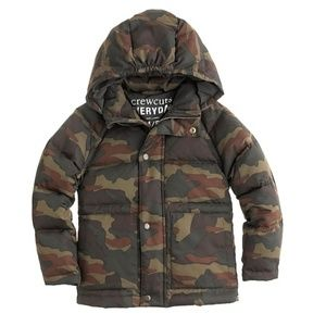 J. Crew Crewcuts Everyday Boys Camo Puffer Coat